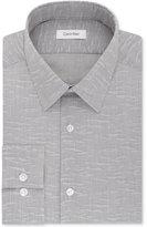 Calvin Klein STEEL Men's Slim-Fit Non-Iron Performance Gray Stripe Dress Shirt