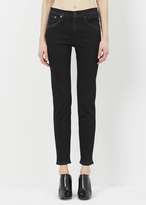 R 13 saturated black high-rise skinny jean