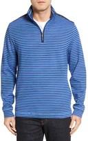 Bugatchi Men's Quarter Zip Stripe Pullover