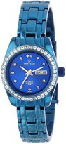 Sartego Women's SLMB75 Classic Analog Metallic Blue Face Dial Blue Swarovski Watch