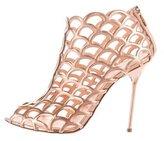 Sergio Rossi Metallic Cage Sandals