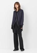 Ann Demeulemeester wainwright violet/black asymetrical zip stripe bomber