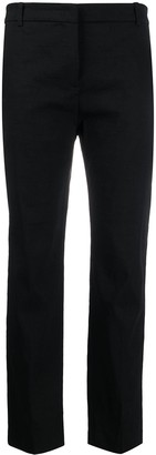 Pinko Linen-Blend Cropped Trousers