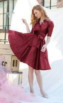 Shabby Apple Korrinne Dress Burgundy
