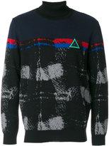 Iceberg embroidered turtle-neck sweater