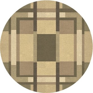 Hawkins East Urban Home Geometric Wool Brown Area Rug East Urban Home Rug Size: Round 4'