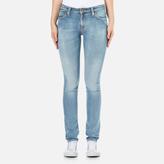 Nudie Jeans Women's Skinny Lin Jeans Clean Stone Indigo