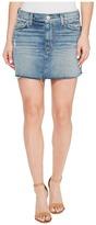 Hudson Vivid Denim Mini Skirt w/ Raw Hem in Sunday Girl Women's Skirt