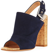 Gianvito Rossi Marcy Suede Slingback Sandal