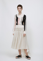 J.W.Anderson off white scoop stripe jumper