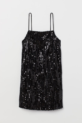 H&M Short sequined dress