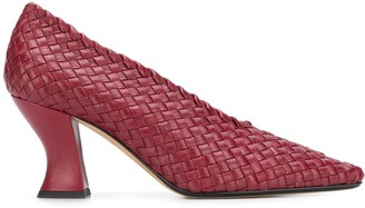 Bottega Veneta Almond intrecciato 80mm pumps