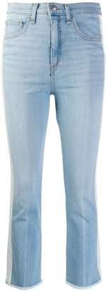 Veronica Beard mid rise stripe cropped jeans