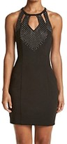 GUESS Black Women's Size 4 Embellished Cutout Sheath Dress