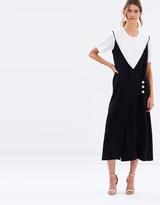CHRISTOPHER ESBER Connective Inner Tee Wrap Dress