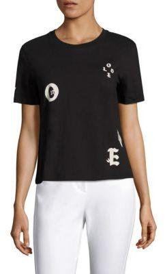 3.1 Phillip Lim Love Cotton Logo Tee