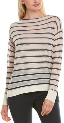 Lafayette 148 New York Bateau Neck Wool-Blend Sweater