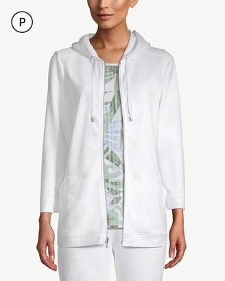 Zenergy Petite Cotton Zip-Front Hooded Jacket