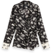 Scotch & Soda Black Printed Pyjama Blazer - xs