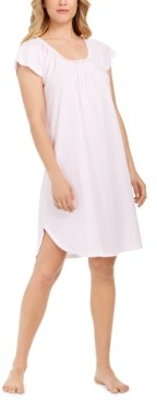 Miss Elaine Smocked Striped Nightgown