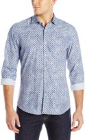 Stone Rose Men's Floral Geo Long-Sleeve Shirt