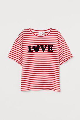 H&M Graphic-design T-shirt - Red