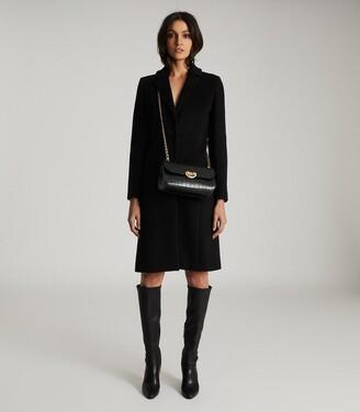 Reiss Adriana - Wool Blend Overcoat in Black