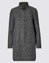 Marks and Spencer Textured Longline Long Sleeve Jacket