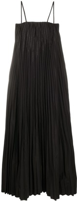 Brunello Cucinelli Pleated Studded Detail Dress