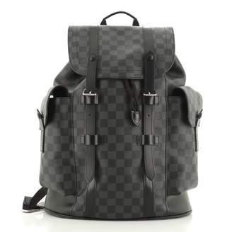 Louis Vuitton Black Cloth Backpacks
