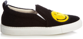 Joshua Sanders Smiley felt slip-on trainers