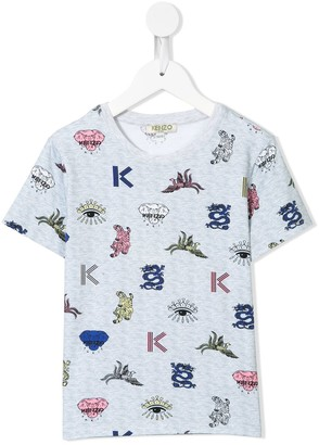 Kenzo Kids animal motif-print T-shirt