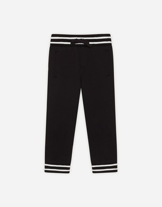 Dolce & Gabbana Jersey Jogging Pants With Ribbed Details