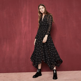 Maje Long printed voile dress