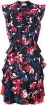 Tanya Taylor floral print frill trim dress