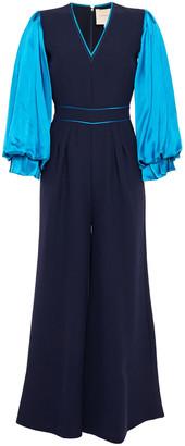 Roksanda Two-tone Cady And Silk-satin Jumpsuit