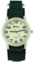 Gents Boxx Boys Luminous Dial Khaki Velcro Strap Fashion Watch