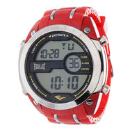 Everlast Mens Red Silicone Strap Watch