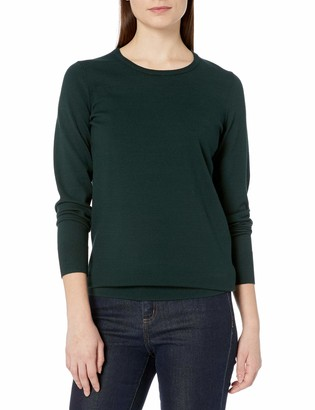 Lark & Ro Women's Premium Viscose Blend Long Sleeve Crewneck Sweater