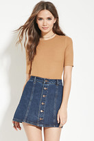 Forever 21 Contemporary Ribbed Knit Top
