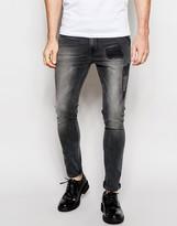 Asos Super Skinny Jeans Rip And Repair Details