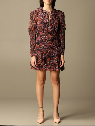 Ulla Johnson Short Dress With Floral Pattern