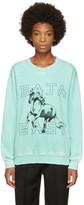 Baja East Green Horses Sweatshirt