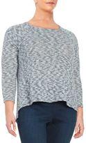 Bb Dakota Plus Split Back Knit Sweater