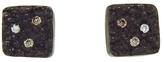 Ariko Oxidized Sterling Silver Square Stud Earrings