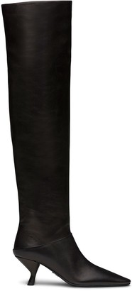 Prada Over-The-Knee 65mm Pointed Boots