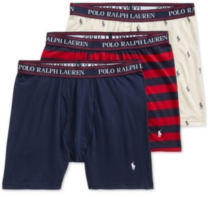 Polo Ralph Lauren Men's 3-Pack Stretch Boxer Briefs