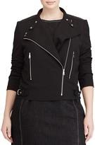 Lauren Ralph Lauren Plus Twill Moto Jacket