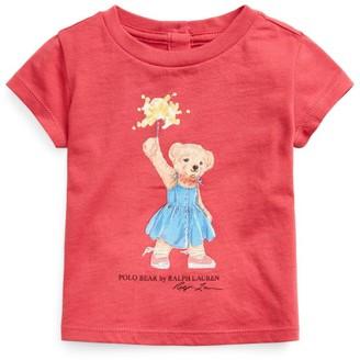Ralph Lauren Kids Sparkle Polo Bear T-Shirt (9-24 Months)