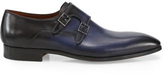 Saks Fifth Avenue COLLECTION Double Monk-Strap Leather Dress Shoes